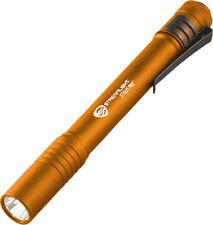 """Streamlight Stylus Pro Orange 5 1/4"""" overall Orange finish machined aluminum bod"""