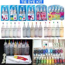 2/3/5/12/24 Color One Step Tie Dye Kit Classic Super Max Vibrant Bright Colour