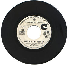 "DEEP PURPLE  ""MIGHT JUST TAKE YOUR LIFE c/w EDITED VERSION""  DEMO  ROCK  LISTEN!"