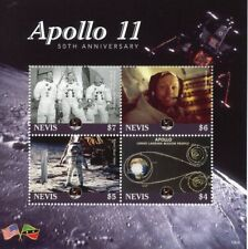 Nevis 2019 MNH Apollo 11 Moon Landing Neil Armstrong 4v M/S Space Stamps