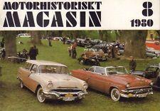 Motorhistoriskt Magasin Swedish Car Magazine 8 1980 Seniorloppet 032717nonDBE
