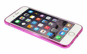 Eloja® iPhone 6 Plus Hülle TPU Cover Case Bumber Metall Optik Rosé