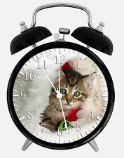 "Cute Kitten Cat Alarm Desk Clock 3.75"" Home or Office Decor W334 Nice For Gift"