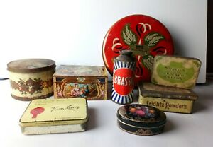 Collection of Vintage Tins to include Brasso, Kemps Chocolate etc