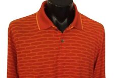 Antigua Golf Mens Size Xl Polo Rugby Golf Shirt Bright Orange And gold ' A'