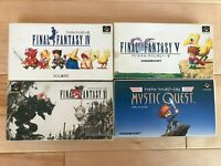 Lot Final Fantasy 4 5 6 USA SFC Super Famicom SNES NTSC-J CIB JAPAN Import Test