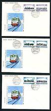 JAR S06 Romania 1979 3 FDC Locomotives Railroad