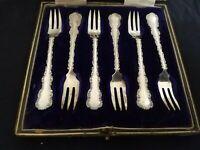 Vintage silver fork set signed Lee &Wingfull...Sheffield.. with serial number
