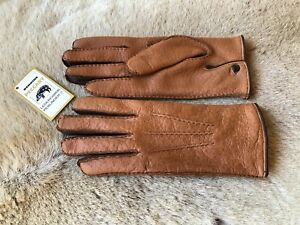 Peccary Leather Gloves Men's Business Gloves Handmade hand sewn
