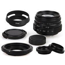 35mm F1.6 CCTV Lens C Mount+Hood for Canon EOS M EF-M M3 M5 M6 Mirrorless Camera