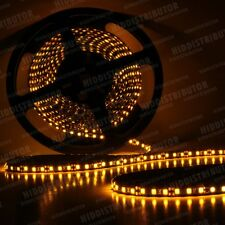 Amber 5m Roll 16ft 3528 SMD LED 600 LEDs Flexible Waterproof Light Strip Ribbon