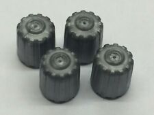 4 x Grey Plastic Dust Caps With Seals to Suit TPMS Tyre Valves