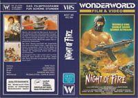 (VHS) Night of Fire - Reginald King, Charlie Davao, George Estregan  (1984)