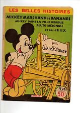 LES BELLES HISTOIRES DISNEY N°26 COLBERT - MICKEY MARCHAND DE BANANES - 1956