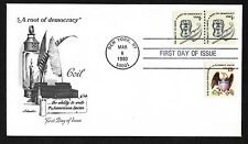 #1811 1c Inkwell & Quill - Artmaster FDC Coil Line Pair