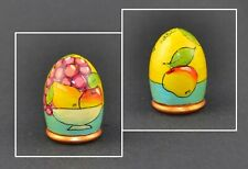 RUSSIAN HAND PAINTED WOOD THIMBLE - FRUITS