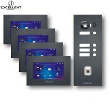 EXCELLENT IP Türsprechanlage mit Fingerprint 4 Familien EX-IP401-G