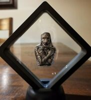 3 oz 999 Silver hand poured mummy skull only 500 made Egyptian Cleopatra  Framed