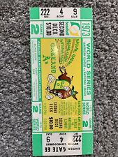 1973 WORLD SERIES NEW YORK METS @ OAKLAND A'S BASEBALL FULL TICKET Game 2