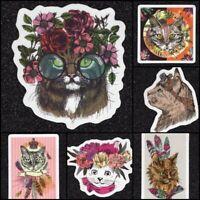 Lot of 7 Cat Vinyl Stickers