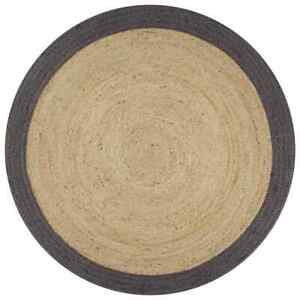 Rug Natural Jute Floor Handmade Round 3x3 Feet Area Modern Carpet Reversible Rug