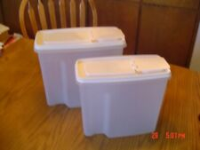 New listing 2 - Vintage Rubbermaid Servin Saver Cereal/ Pasta Keeper Container 13 & 21 Cups