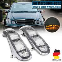 Paar Aussenspiegel Rückspiegel Blinker Für Mercedes-Benz W220 W215 S/CL-Klasse