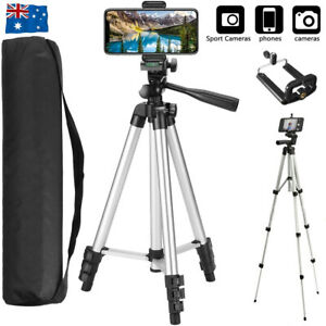 Universal Telescopic Camera Tripod Stand Holder Phone Mount For iPhone Samsung