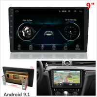 """9"""" Android 9.1 2 Din Car Stereo Radio GPS BT DAB Mirror Link WiFi Player 2G+16GB"""