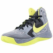 NIKE HYPERFUSE SUPREME BASKETBALL SHOES Size 11.5 GREY ATOMIC GRN/BLK 536861-001