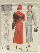 Vogue Vintage Sewing Pattern Retro Suit 1949 Uncut 2476 Factory Fold 12 14 16