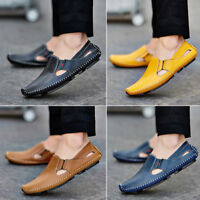 NEW Mens Driving Moccasin Shoes Slip On Loafer Casual Brogue Flat Shoes Sandals