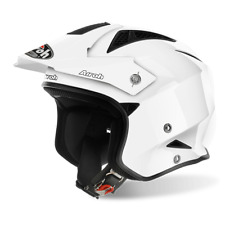 Casco Airoh Trr S in fibre composite on-off road trial jet bianco L 59 60 cm.