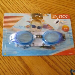 New INTEX Junior GOGGLE UV Protection One Pair GOGGLES Beach POOL BLUE GOGGLES