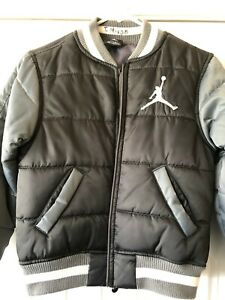 Nike Air Jordan Jumpman Boys Bomber Jacket Sz S rn#81917 Black/Gray MSRP $100