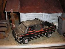 1/24 Vintage 1970's Chevy GMC Panel Van Custom Truck for Junkyard diorama parts