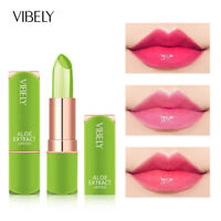 Aloe Vera Lipstick Lip Balm Color Mood Changing Long-Lasting Moisturizing UK