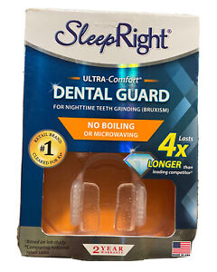 NEW SleepRight Ultra-Comfort Dental Guard - No Boiling Damaged Box