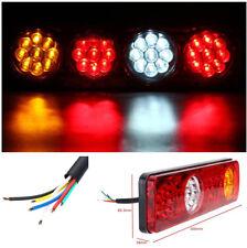 2 Pcs LED Rectangle Car Tail Lights Running Light Turn Signal Light Reverse Lamp