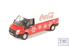 76FT030CC Oxford Diecast OO Gauge Ford Transit LWB High Coca Cola Xmas