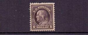 USA 1912 $1 SG405 ( SCOTT 423 ) MH - THINNED