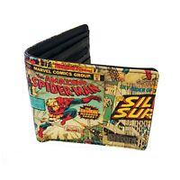 Genuine Marvel Comics 'Retro Comic' Outside Print Bi-Fold Wallet Boxed Gift