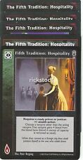 The Fifth Tradition: Hospitality x5 CE VTES Jyhad Lot A