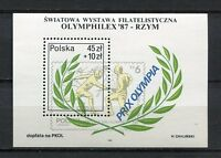 36115) Poland 1987 MNH Olymphilex '87, Rome S/S