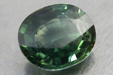 1.87Cts. Certificate! Perfect 100%Natural Unheated Nice Color Green Sapphire Ov