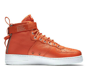 NIKE SF AIR FORCE 1 MID Trainers AF1 Special Forces - UK Size 10 (EUR 45) Orange