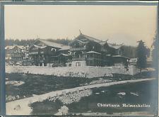 Norvège, Christiana, Oslo, hôtel Holmenkollen  Vintage silver print,  Tira