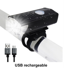 Bike Light USB Rechargeable 300 Lumen 3 Mode Bicycle Front Light lamp Head A32