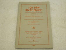 1938 The Felton Murder Mystery souvenir program Latham, NY Ambrosian Players
