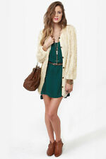 DARLING LADIES CORINA BEIGE CARDIGAN SWEATER SIZE LARGE/UK14